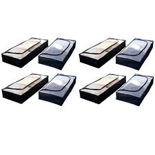 8er Set Unterbettkommode mit Reißverschluss | Unterbett Aufbewahrung Kommode