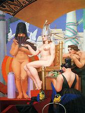 Art Deco Ceramic Mural Cleopatre Nude Bath Tile #45