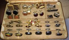 Vintage Lot Of 15 Cufflinks 10 Tie Clips