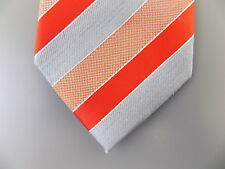 Geoffrey Beene Men/'s Orange Solid Striped Seasonal Necktie Tie