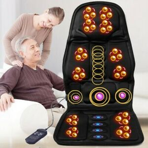 8-mode Car Seat Stress Massage Cushion Heated Remote Chair Home Multifunction UK