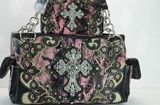 purse Pink Camo bag and wallet set Camouflage cross