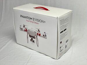 DJI Phantom 2 Vision Plus (P2V+) Kit Original Box Controller Battery extra props