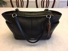 Coach Park Leather Carrie Tote Handbag Authentic