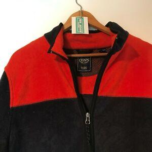 Ralph Lauren Chaps Fleece Jacket - Large Blue 90's Vintage Clothing Full Zip