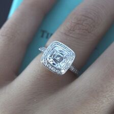 $42,500 Tiffany & Co 2.18ct Legacy Platinum Cushion Diamond Engagement Ring Band