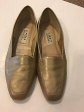 ENZO ANGIOLINI Liberty Size 9M Gold Wheat Flats Shoes