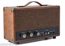 Retro Bluetooth Speaker - Brown - Large Portable Wireless - GPO Westwood