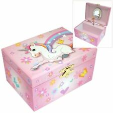 Mele & Co. Girls Musical Unicorn Jewellery Box with Flower & Love Heart Design