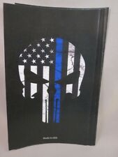 WHOLESALE LOT OF 20 SKULL PUNISHER BLUE LINE MEMORIAL STICKERS SUPPORT POLICE L
