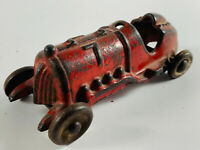 Antique 1930's Hubley Cast Iron Red Race car toy