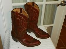 Vintage FRAVE'L WESTERN Cowboy Men's BOOTS Brown Leather size Mex 29.5 US 10.5