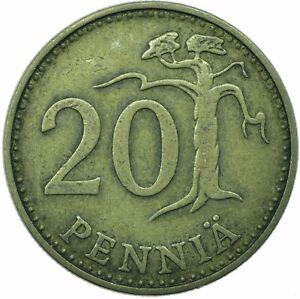 Finland, 20 Pennia, 1963,      #WT22371