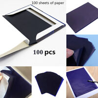 100 Blätter Pauspapier Transferpapier Kohlepapier DIN A5 Schreibmaschine Blau