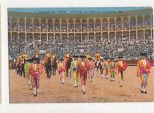 Corrida de Toros El Paseo Spain Vintage Postcard 461a