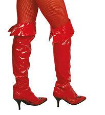 Cubre botas disfraz diablesa rojo demonio diablo halloween