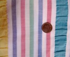 Seersucker Fabric Cotton Ribbon Stripe New 3.5 yds White Pink Green Yellow Blue