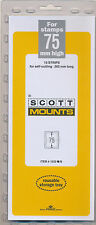 Prinz Scott Stamp Mount 75/265 BLACK Background Pack of 10