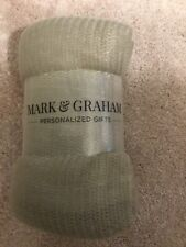 Mark and Graham Throw Beige/Brown Throw 50x60 New In Package Retail $79