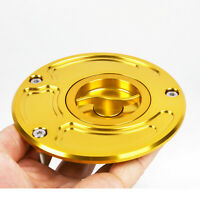 For Kawasaki ZX9R 00-03  ZX10R 04-05 ZX6R 03-06 Keyless Gas Cap CNC Fuel Gold US