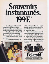 PUBLICITE ADVERTISING 064 1973 POLAROID Colorpack 80