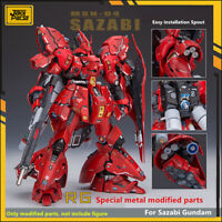 for RG 1/144 Sazabi Gundam JAOparts Metal Detail Parts Set w/ DL Decal Tool-Free