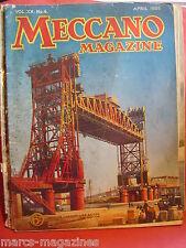 RARE MECCANO MAGAZINE APRIL 1935 QUEBEC PORT ELECTRIC CLOCK MECHANISM THEODOLITE