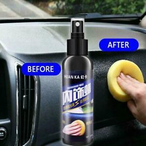 Auto Care Inner Car Interior Wax Seat Polish Dashboard Leather Cleaner Q3O3