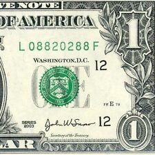 2003 $1 FRN *** RADAR *** Gem-Uncirculated # L08820288F