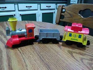 Vintage Mattel First Wheels Railroad Train Play Set Pieces 1980