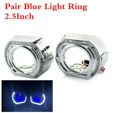 White Xenon High/low/sidelight Beam Headlight Bulbs Angel Eyes Blue Demon LED X2