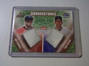 2002 Fleer Platinum Cornerstones Numbered /2000 Todd Helton Jeff Bagwell HOF