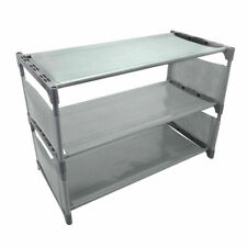 3 Tier Shoe Rack Home Storage Shoes Organisation System - Grey