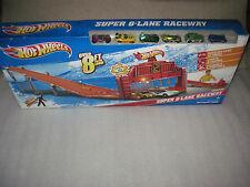 NEW Factory SEALED 2011 Mattel Hot Wheels SUPER 6 Lane Raceway 8 Feet of Track