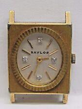 Vintage Ladies Baylor 10K.T. Gold Filled Wrist Watch Diamond Dial. 17 Jewels