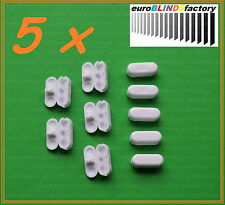 5 x ROLLER  ROMAN  VERTICAL BLIND WHITE CHAIN JOINERS CONNECTORS- NEW DESIGN