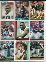 Bruce Smith Lot x9: 1987 Topps, 1991 Stadium Club, Bowman, Upper Deck, Select