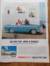 1963 Rambler American 440 Convertible Ad  Go for Fun Save A Bundle