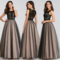 Ever-Pretty Women Long Lace Sleeveless Evening Cocktail Party Dresses Gown 07788