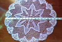 Vintage Lavender Cottagecore Crochet Doily Center Piece Granny  A2