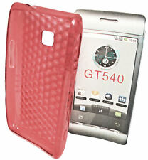 SILIKON TPU COVER CASE HANDY HÜLLE für  LG  GT540  in TRANSPARENT ROT