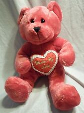 "You're My Love Pink Teddy Bear Heart 11"" Plush Soft Toy Stuffed Animal"