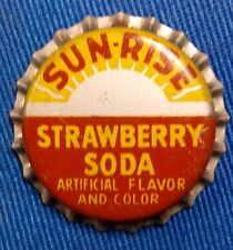 SUNRISE STRAWBERRY SODA BOTTLE CAP CROWN CORK LINER ORIGINAL COCA COLA NOS