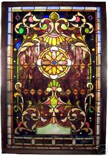 American Stained Glass Landing Window, 19th c  #6762