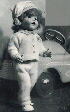 """Poupées tricot motif. 20"""" poupée. laminated copy. (V doll 79)"""