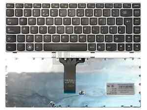 Lenovo Z370 Z470 UK Layout Black Keyboard Pink Frame 25-011949 AEKL6E00210
