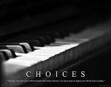 Musical Instruments Motivational Poster Art Print Piano Band Sheet Music MVP115