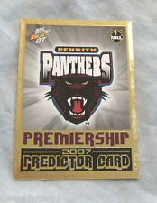 2007  RUGBY LEAGUE INVINCIBLE PREMIERSHIP PREDICTOR CARD P11  PENRITH PANTHERS