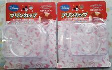 Disney Mickey Mouse Custard Pudding Desserts 2 cups Fast Free Shipping Japan