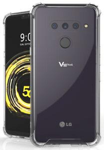 AquaFlex Transparent TPU Anti-Shock Clear Case Cover for LG V50 ThinQ (2019)